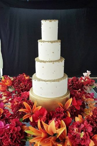 black and white wedding cakes big white cake in flowers