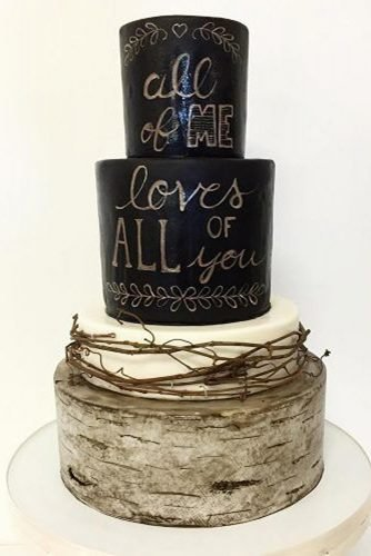 black and white wedding cakes trendy rustic cake