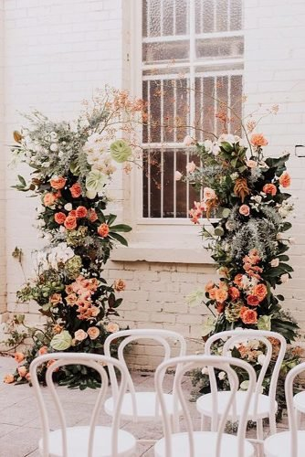 coral wedding decorations wedding arch with flowers