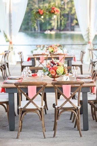 coral wedding decorations wedding chairs decorations