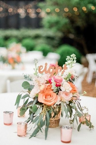 coral wedding decorations wedding table decor