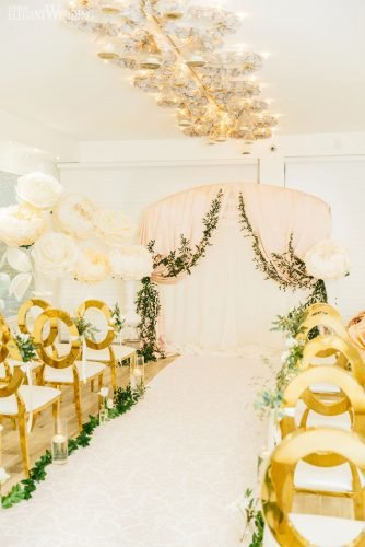 gold wedding decorations gold ceremony decor Paula Visco