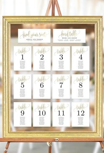 gold wedding decorations gold frame with mirror and cards berryberrysweet