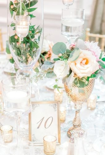 gold wedding decorations gold table decor susanelizabethweddings