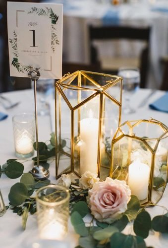 gold wedding decorations golden candlesticks white candle danileighphotography