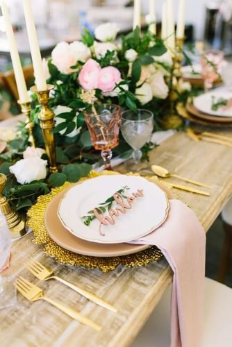 gold wedding decorations seating place decor HappilyEverEtchedInc