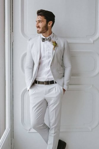 groom suits grey jacket with bow camillaanchisi