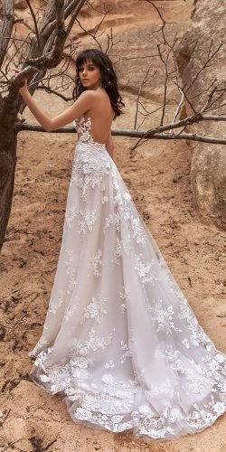 katherine joyce wedding dresses a line back lace with train 2020