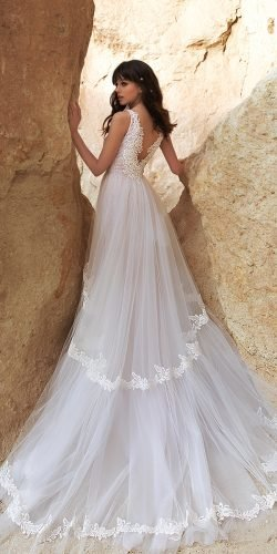 katherine joyce wedding dresses a line v back with train lace 2020