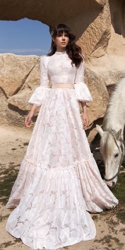 katherine joyce wedding dresses a line with long sleeves boho 2020