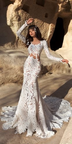 katherine joyce wedding dresses fit and flare with long sleeves romantic 2020