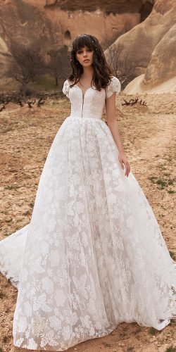 katherine joyce wedding dresses princess with cap sleeves lace 2020