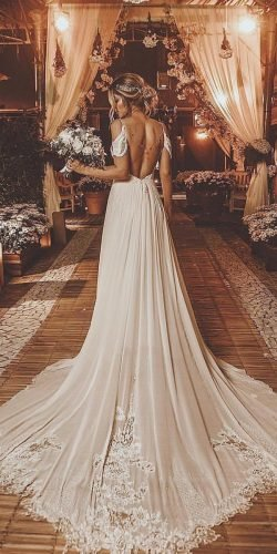 off the shoulder wedding dresses a line backless with spaghetti straps rodrigo vipych photography