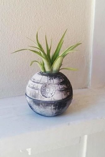 star wars wedding death star planter