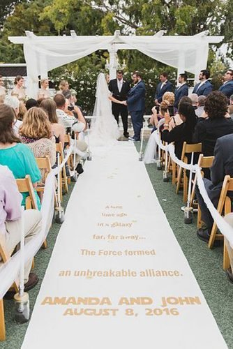 star wars wedding far far away aisle runner