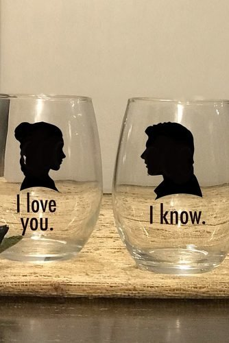 star wars wedding i love you i know glass