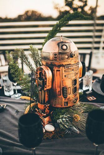 star wars wedding theme wedding centerpiece