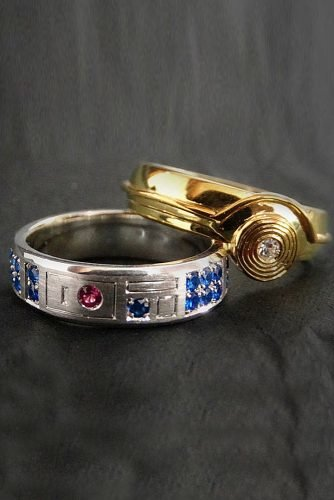 star wars wedding wedding bands