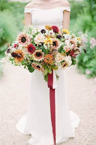 sunflower wedding bouquets stylish bouquet with colorful flowers