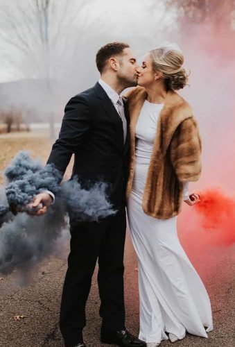 wedding entourage photo ideas couple red grey smoke basicallyemilyphoto
