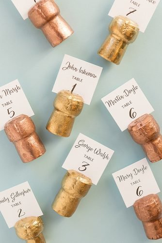 diy wedding ideas champagne cork place сards
