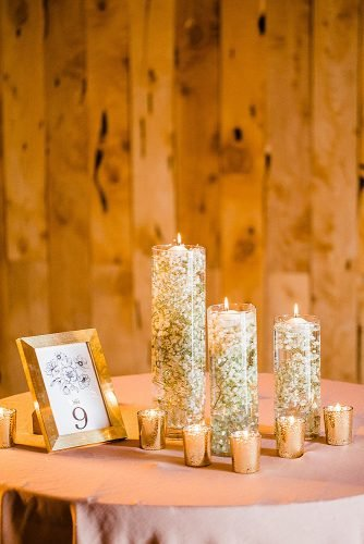 diy wedding ideas diy candles with babys breath