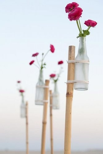 diy wedding ideas flower stakes