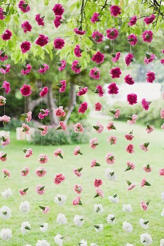 diy wedding ideas hanging floral decor