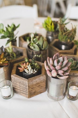 diy wedding ideas succulent wedding centerpiece