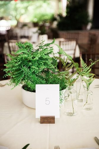 diy wedding ideas table number in wood stand