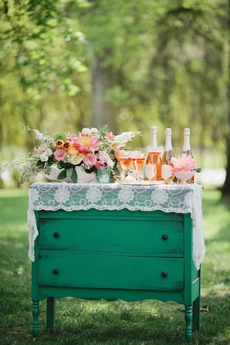 diy wedding ideas vintage drink station