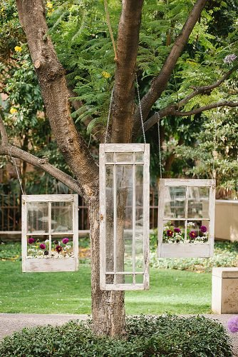 diy wedding ideas vintage windows decor