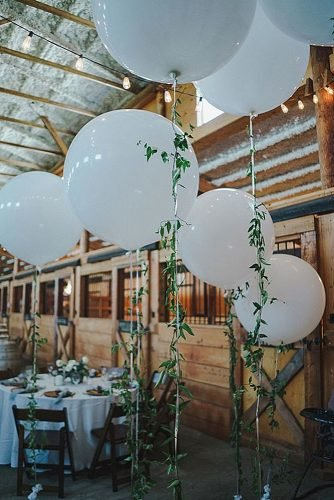 diy wedding ideas wedding balloons with greenery string