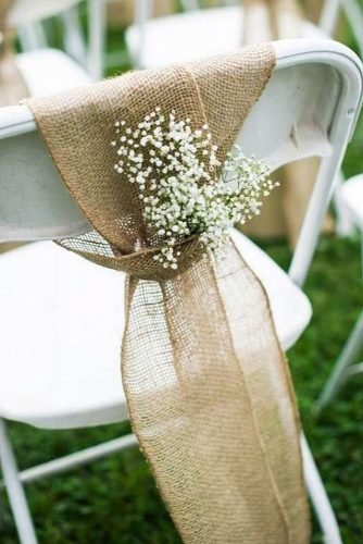 diy wedding ideas wedding chair decoration
