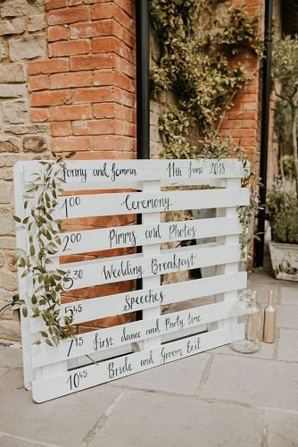 diy wedding ideas wedding prigram on the pallet