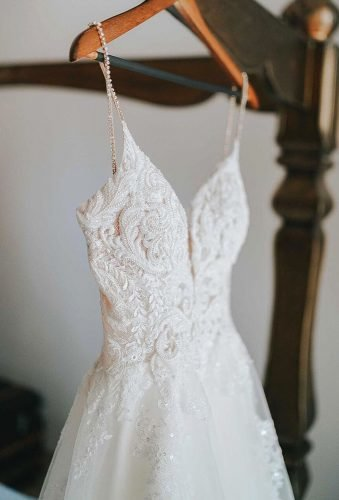hanging wedding dress dress details twinsoulphoto