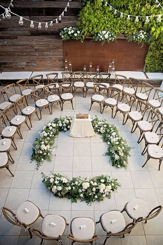 lesbian wedding ideas circular seating ceremony