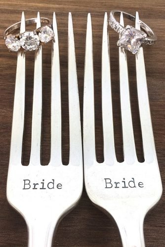 lesbian wedding ideas mrs mrs same sex wedding silverware