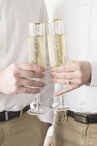lesbian wedding ideas same sex wedding champagne flutes