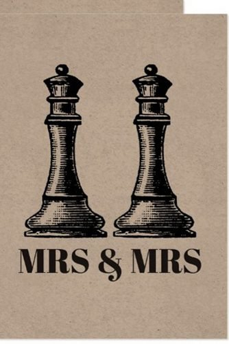 lesbian wedding ideas two chess queens wedding invitation