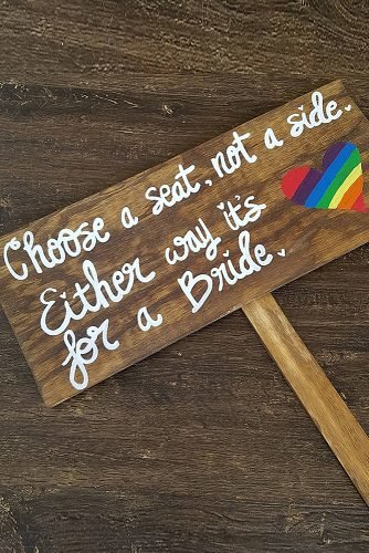 lesbian wedding ideas wedding seating sign