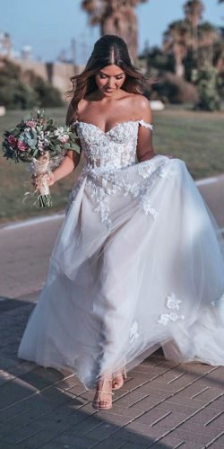 off the shoulder wedding dresses a line off the shoulder sweetheart neckline galia lahav