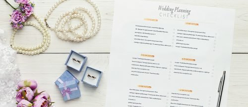 wedding planning printables wedding checklist on the table featured