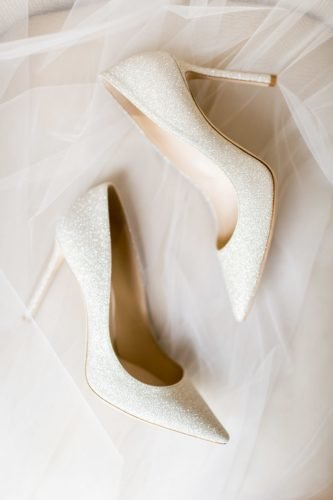 wedding shoes sequins ivory with heels cavin elizabeth photography