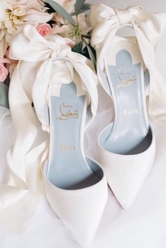 wedding shoes simple with bow ronaldjoyce