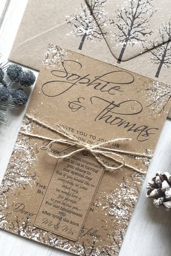 christmas wedding ideas Snow themed winter