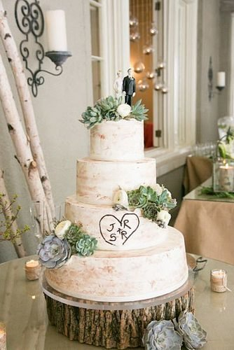 christmas wedding ideas rustic four layers wedding cake