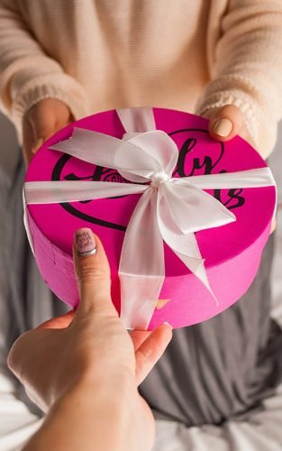 engagement gifts gift with ribbon cute