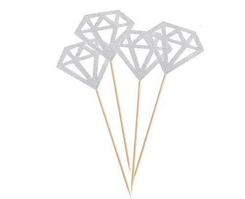 engagement party decorations diamond dessert toppers