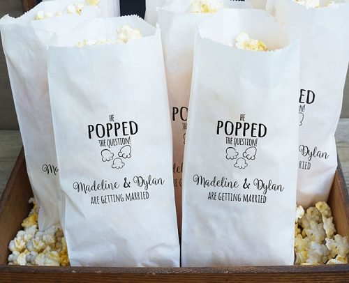engagement party decorations engagement party favor bags popcorn